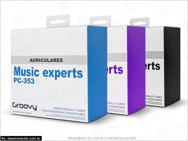 Línea de packaging para auriculares Rosario - modelo 2