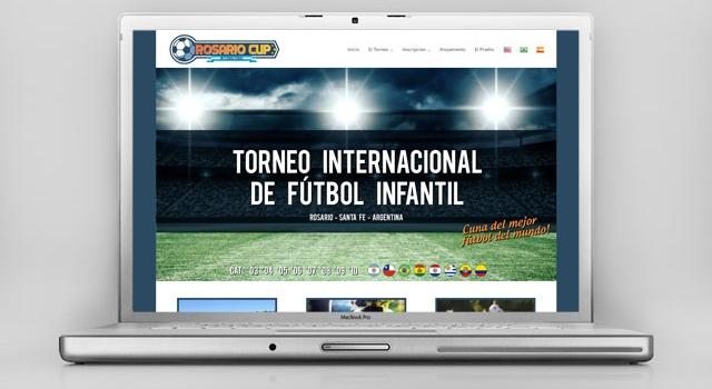 Diseño web torneo internacional de fútbol infantil
