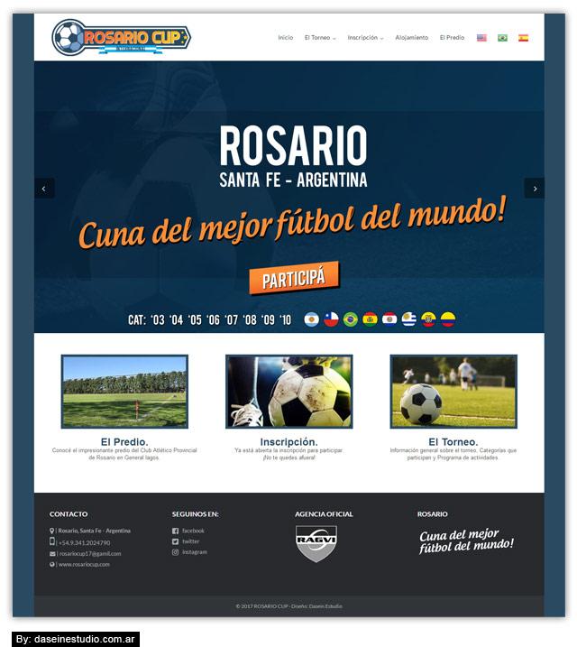 Diseño web Torneo Internacional de Fútbol Infantil - Fullsite