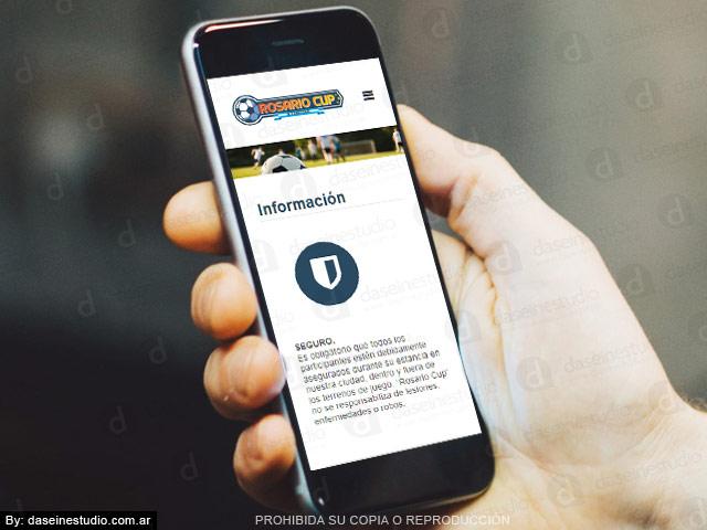 Diseño web Torneo Internacional de Fútbol Infantil - Diseño Responsive