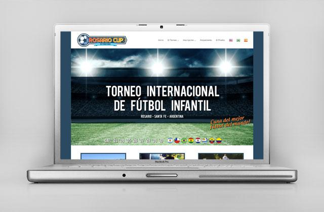 Diseño web Torneo Internacional de Fútbol Infantil - Rosario Argentina