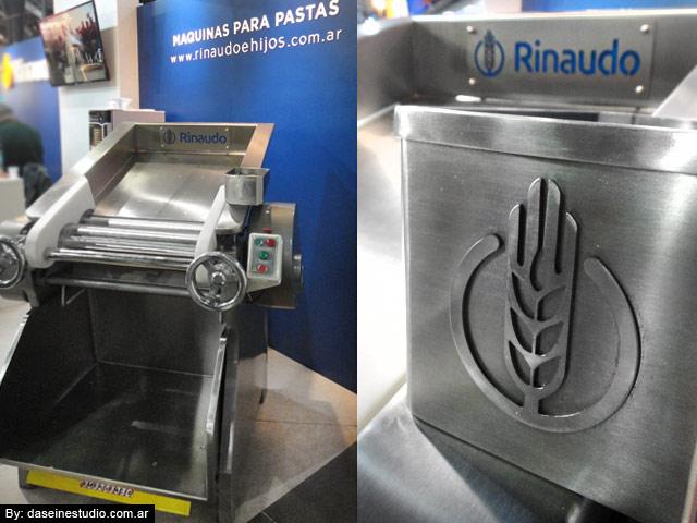 Aplicación de logotipo en maquinaria: Fábrica de Máquinas para Pastas Rosario