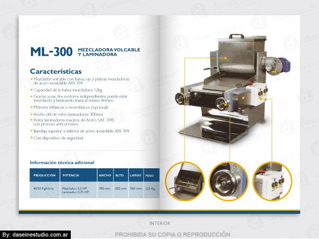 Diseño de Folleto Díptico: Fábrica de Máquinas para Pastas Rosario
