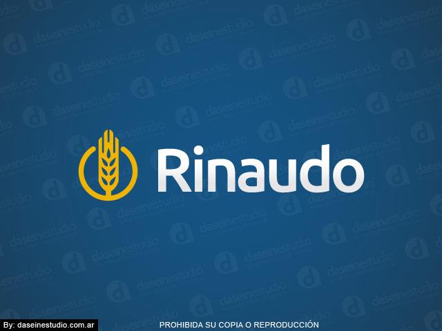 Diseño de logotipo para Fábrica de Maquinas para Pastas Rosario - Fondo azul