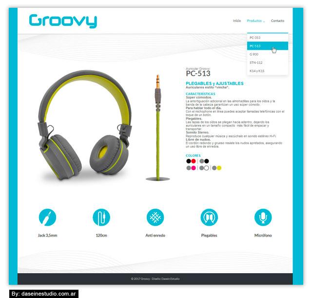 Diseño web Auriculares - Productos - Rosario Argentina
