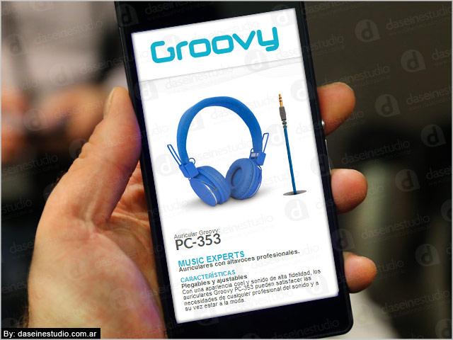 Diseño web Auriculares - Productos vista en Smartphones - Rosario Argentina