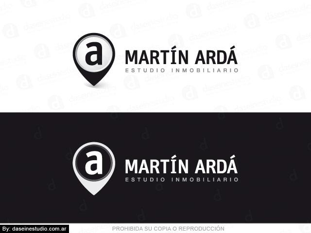 Diseño de logo inmobiliaria - Cruz Alta, Córdoba Argentina - Fondo Blanco y Negro: Normalización de logotipo.