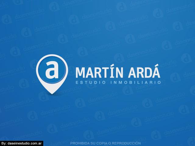 Diseño de logo inmobiliaria - Cruz Alta, Córdoba Argentina - Fondo celeste: Normalización de logotipo.