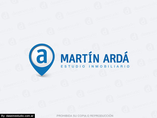 Diseño de logo inmobiliaria - Cruz Alta, Córdoba Argentina - Fondo blanco: Normalización de logotipo.