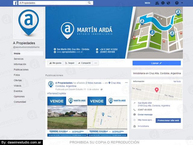 Diseño de portada y avatar Facebook - Inmobiliaria Córdoba