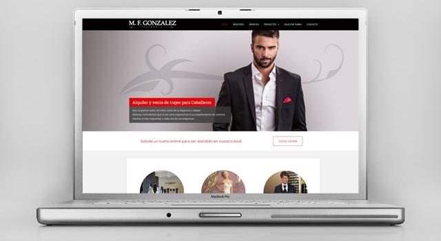 Diseño web Sastrería – Trajes & Vestidos