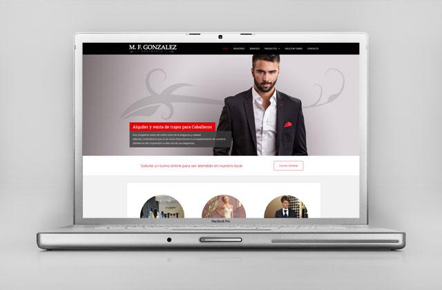 Diseño web Rosario - Sastrería Trajes & Vestidos para novios