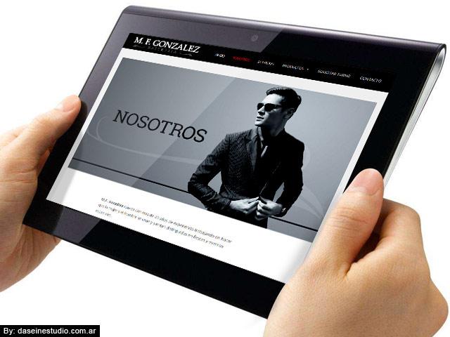 Diseño web Rosario - Sastrería - Responsive
