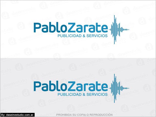 Diseño de Logotipo Locutor - Aplicación fondo Blanco