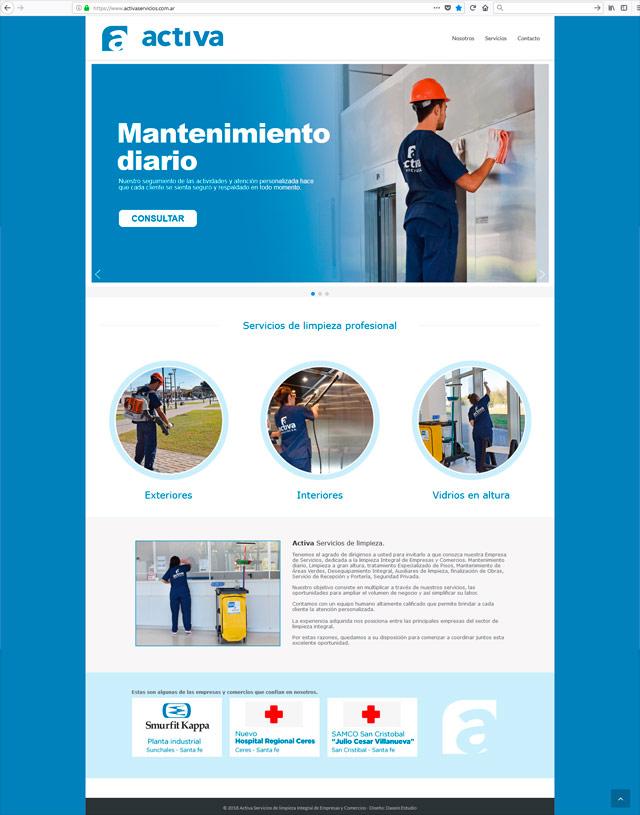 Diseño web Rosario - Servicios de limpieza para Empresas - Fullsite