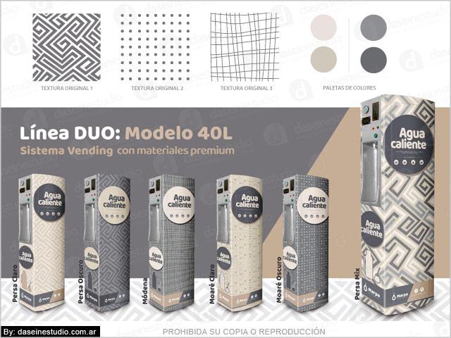 Branding en maquinas sistema vending - Creación y diseño de Línea de Productos: Línea Duo