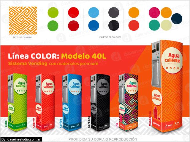 Branding en maquinas sistema vending - Creación y diseño de Línea de Productos: Línea Color