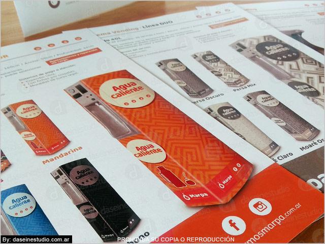 Detalles Hojas A4 Sistema Vending - presentación de productos