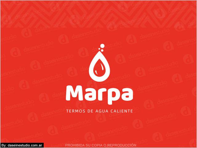 Diseño de logo Sistema Vending Termos de Agua Caliente - Rosario Argentina - Fondo Rojo