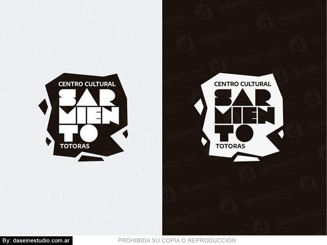 Diseño de Logotipo Centro Cultural - Blanco y negro