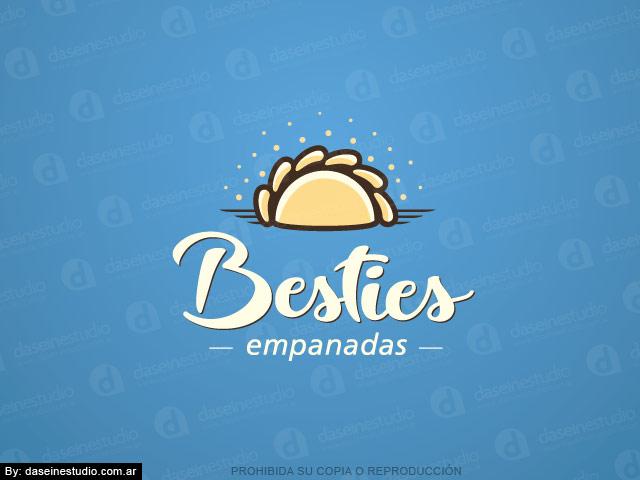 Diseño de logotipo Casa Empanadas en Atlanta Georgia - Fondo Celeste - Normalización de logotipo