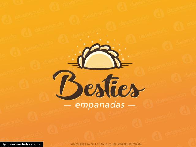 Diseño de logotipo Casa de Empanadas en Atlanta Georgia - Fondo Naranja - Normalización de logotipo