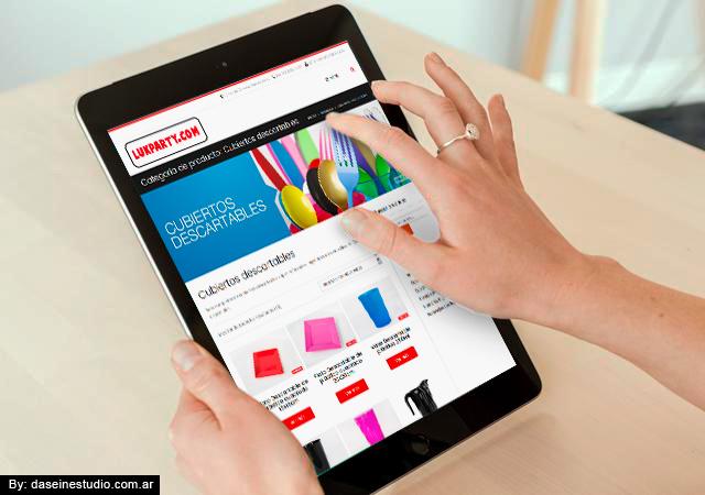 Diseño web Cotillón Mayorista - Buenos Aires Argentina - Vista en Tablet