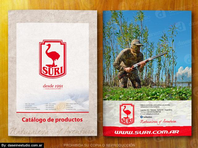 Diseño catalogo de productos Indumentaria outdoor - caza - pesca - camping - TAPA y CONTRATAPA
