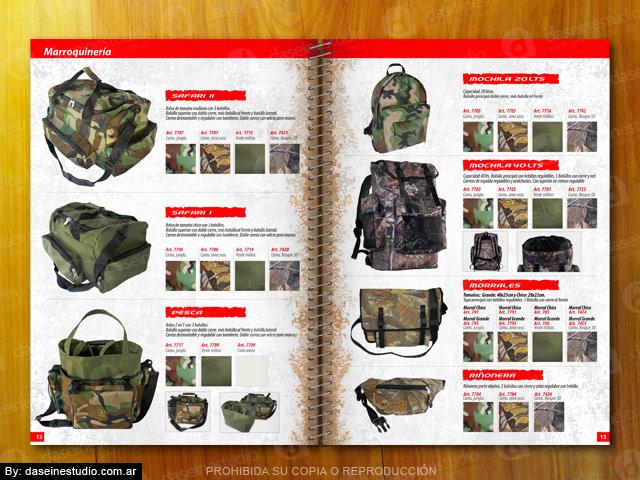 Diseño catalogo de productos - Marroquinería: bolsos, morrales y mochilas