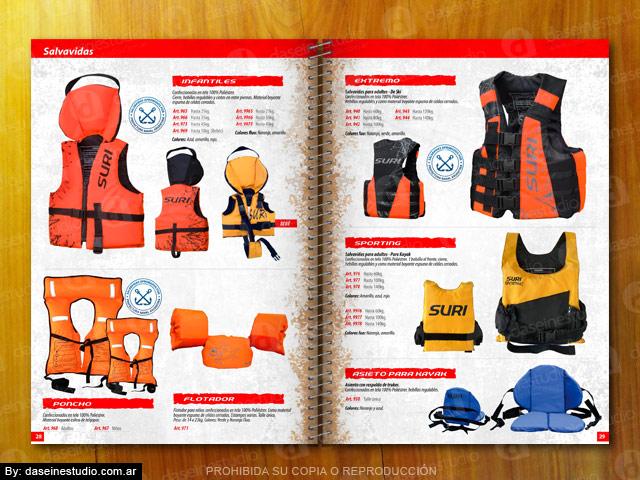 Diseño catalogo de productos - Salvavidas para Niños y Adultos