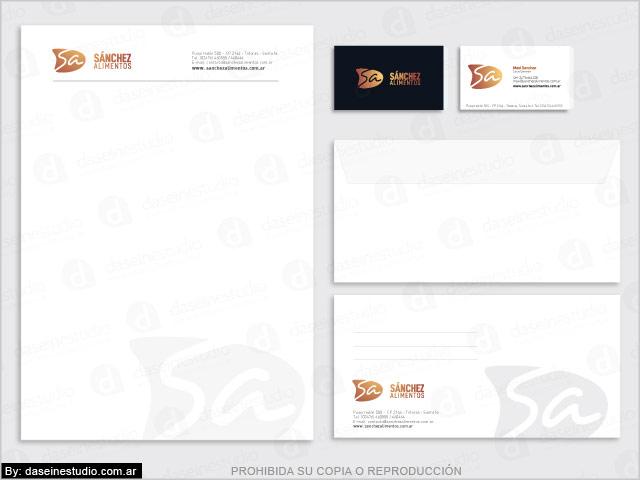 Diseño de logotipo & Branding Alimentos Envasados - Diseño de papelería comercial