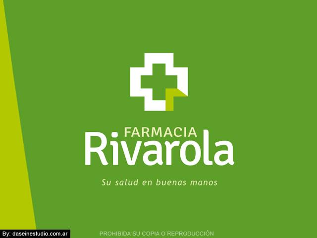 Diseño de logotipo Farmacia Rosario Argentina - fondo verde