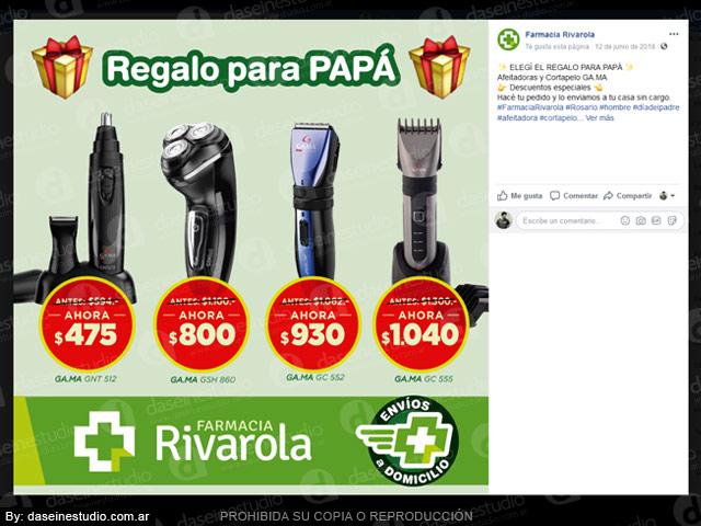 Farmacia: Diseño de placas para redes sociales - DÍA DEL PADRE