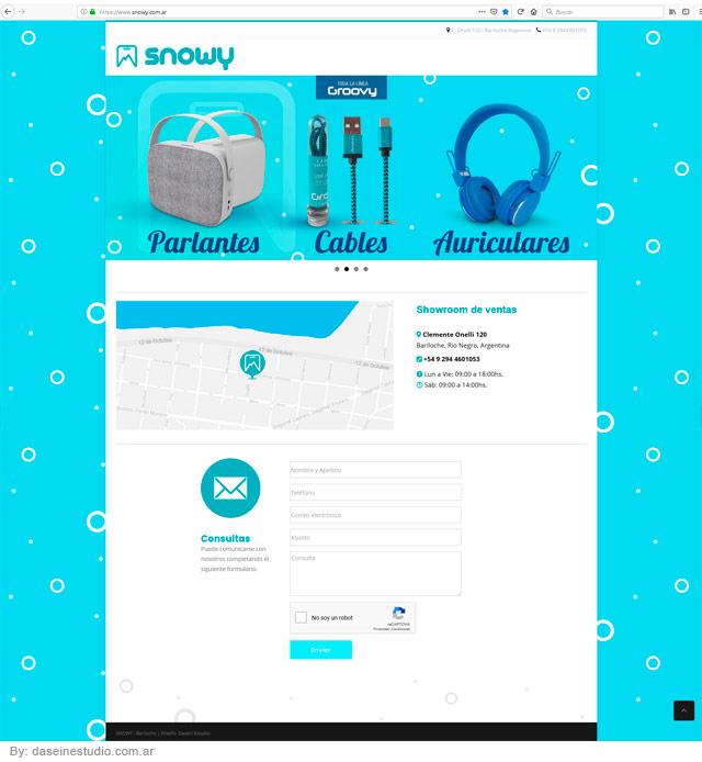 Diseño web Landing Page Accesorios para Celulares - Bariloche Argentina
