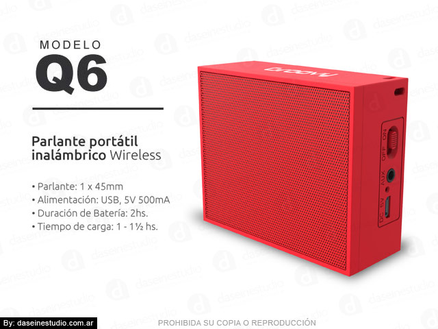 Packaging Modelo: Q6 - foto parlante