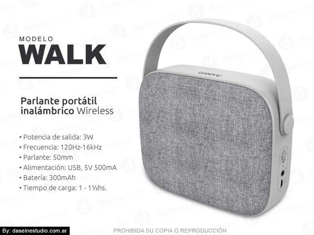 Packaging Modelo: WALK - foto parlante
