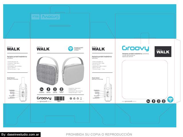 Packaging Parlante Modelo WALK - Toquel desarmado