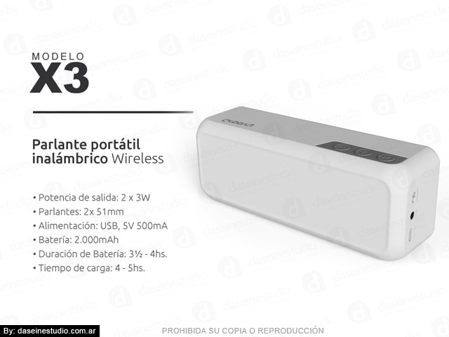 Packaging Modelo: X3 - foto parlante