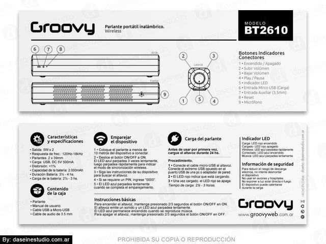 Packaging Modelo: BT2610 - Diseño de Manual de usuario