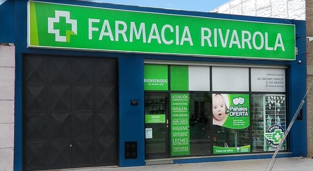 Diseño de vidriera para Farmacia Rosario