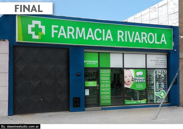 Diseño de Vidriera y frente local comercial: Farmacia Rivarola