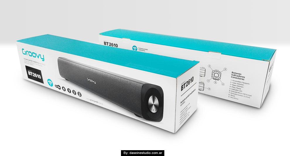 Diseño packaging Parlante BT2016
