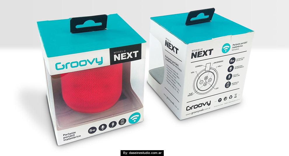 Diseño packaging Parlante Netx