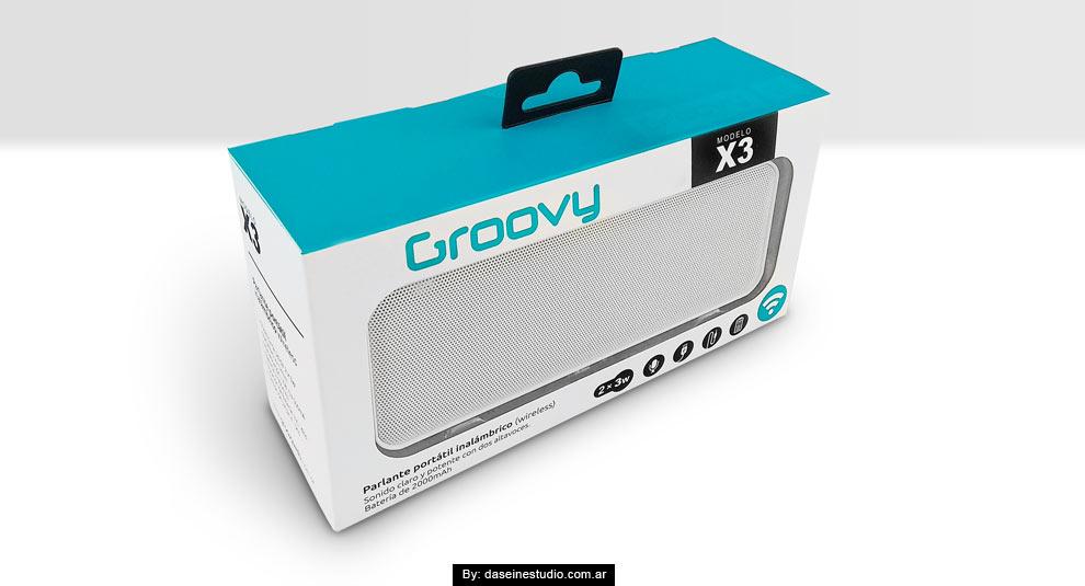 Diseño packaging Parlante X3
