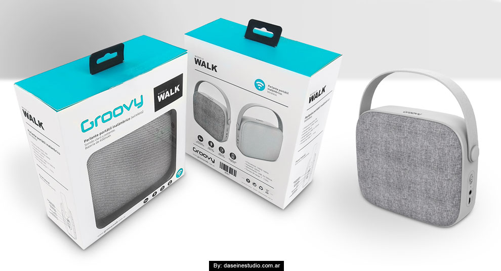 Diseño Packaging para Parlantes - Modelo: Walk