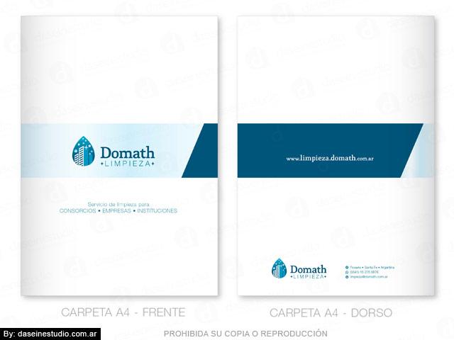 Diseño de logotipo Empresa de limpieza Argentina - Carpeta A4 Institucional