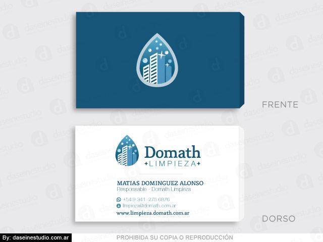 Diseño de logotipo Empresa de limpieza Argentina - Tarjetas Personales